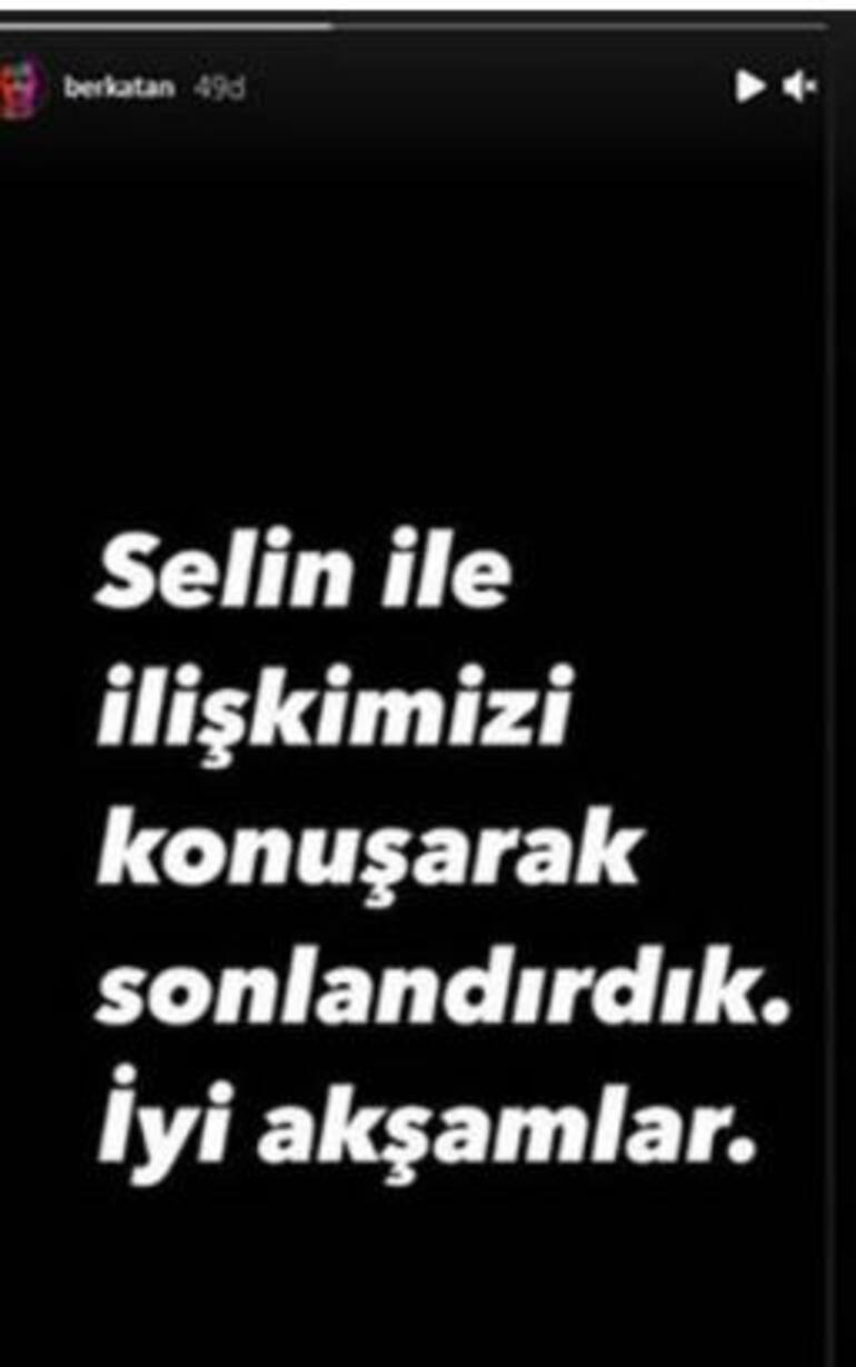 Selin Yağcıoğlu ve Berk Atan aşkı bitti – Yaptıkları paylaşımlarla duyurdular