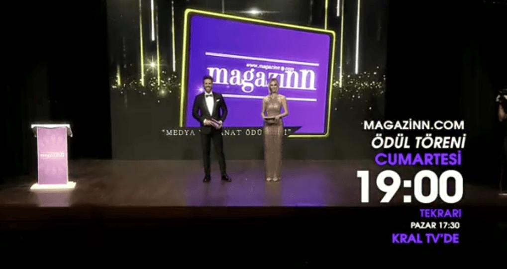 """Photo of Magazinn.com """"Medya ve Sanat Ödülleri"""" töreni 8 Aralık Cumartesi 19.00 ve Pazar 17.30'da Kral TV'de!"""