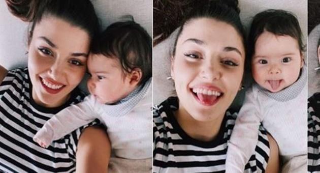 Photo of Hande Erçel ve yeğeni Aylin Mavi'nin fotoğrafına ortak yorum!