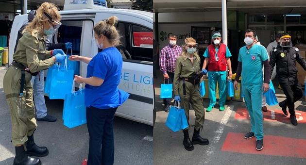 Photo of Şeyda Coşkun sağlık çalışanlarına destek verdi!