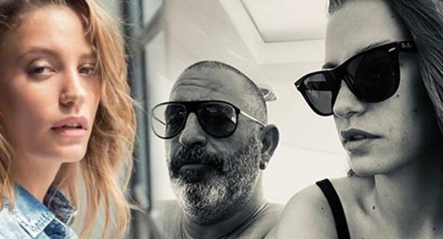 """Photo of Cem Yılmaz'dan Serenay Sarıkaya'ya: """"Aşkın ateşten gömlek!"""""""