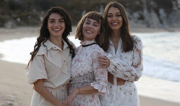 Demet Evgar, Dilan Çiçek Deniz ve Hazar Ergüçlü'yü bir araya getiren Alev Alev dizisinden ilk tanıtım