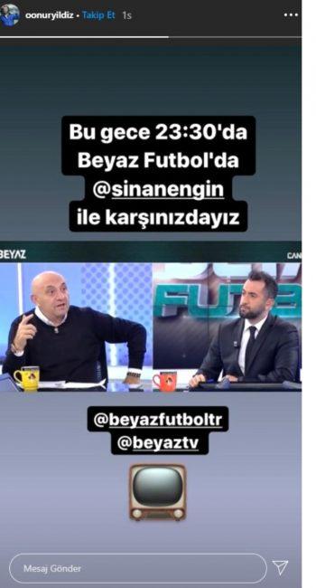 Beyaz Futbol'da Ertem Şener'in yerine Onur Yıldız geldi!