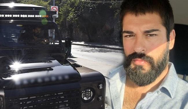 Burak Özçivit yeni arabasını Boğaz'da test etti