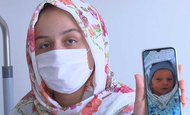 Hem ailesinin, hem de pandemi hastanesinin ilk bebeği minik Miraç