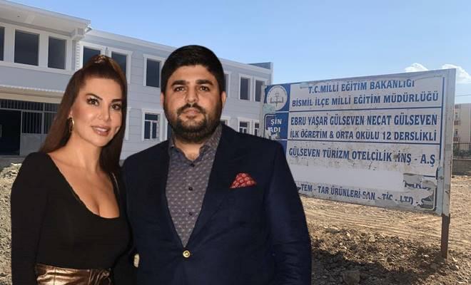 İş insanı Necat Gülseven sanatçı eşi Ebru Yaşar adına okul yaptırdı
