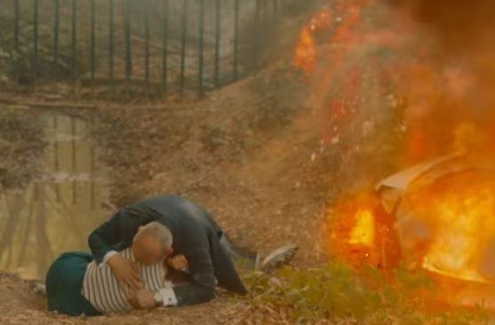 Perişan oldular! Babil dizisindeki kaza sahnesinin kamera arkası Aslı Enver'den geldi