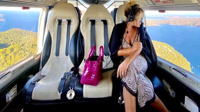 Selin Ciğerci, 27 Bin TL'lik helikopterle tatile çıktı