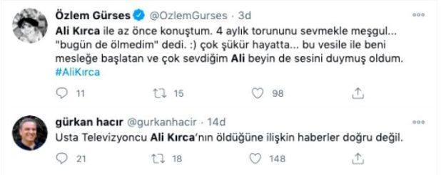 Usta Televizyoncu Ali Kırca Vefat Mı Etti?